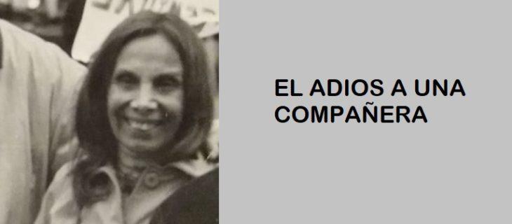 EL ADIOS A UNA COMPAÑERA